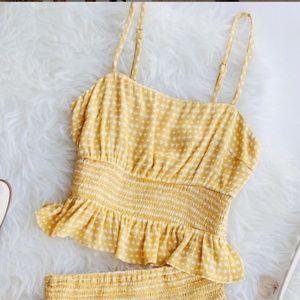 Anthropologie Skirts - Nectar Clothing Chasing Sunshine Gingham Set